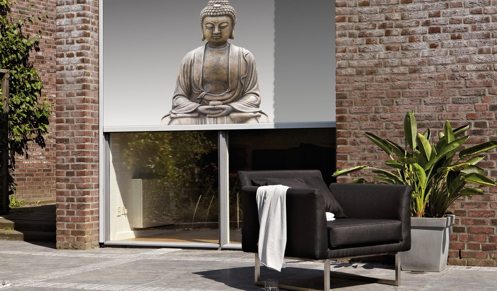 Screens Budha afbeelding Luxaflex