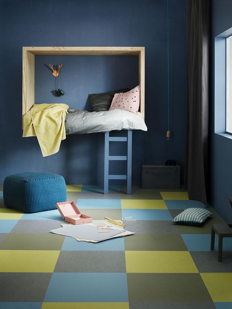 Kinderkamer met Forbo Marmoleum te koop in Amstelveen bij Vonk & Vloer