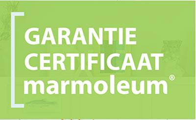 15 jaar Garantie certificaat op Marmoleum van Forbo